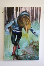 Falling #Blue (2013) Oil on Canvas