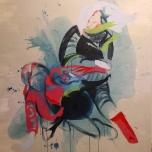 Trace Dance 1.2 (2014) Acrylic on Canvas